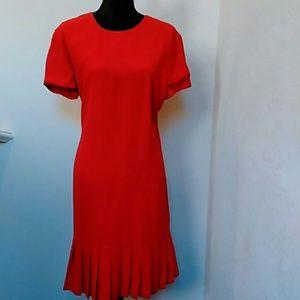 EUC Liz Claiborne Red Sheath Dress 14